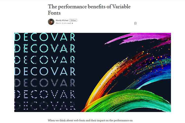 Example from The performance benefits of Variable Fonts