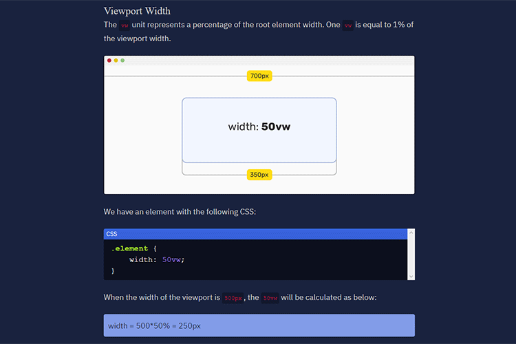 Example from CSS Viewport Units