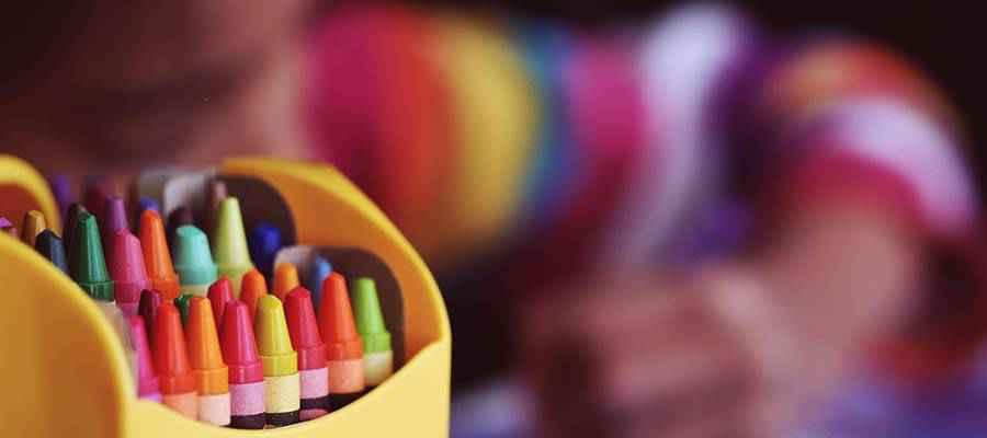 A box of crayons.