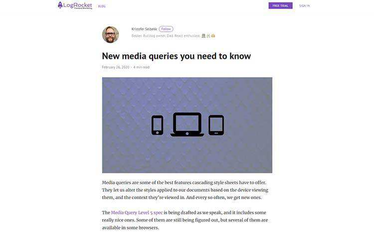 Example from New media queries you need to know