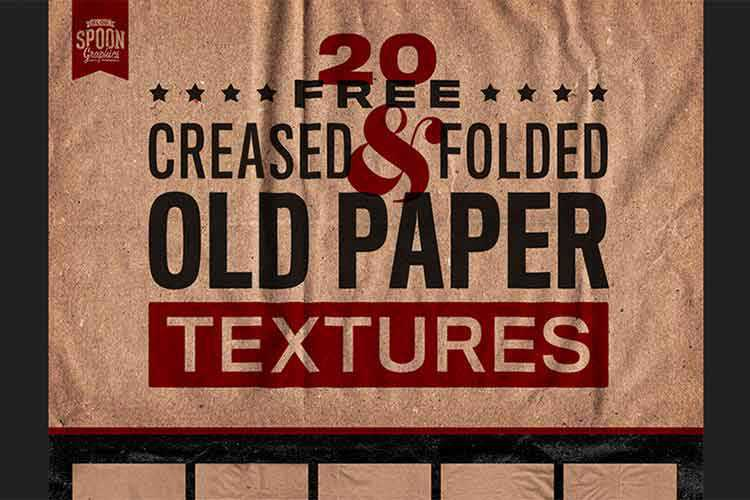 Example from 20 Free Old Paper Textures with Creases, Folds and Stains