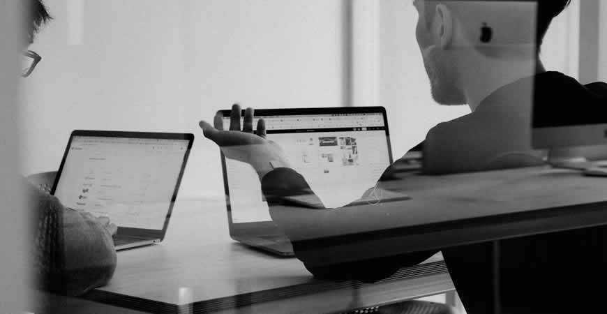 client designer discussion black white meeting