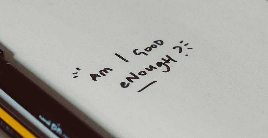 am I good enough quote notepad book handwritten