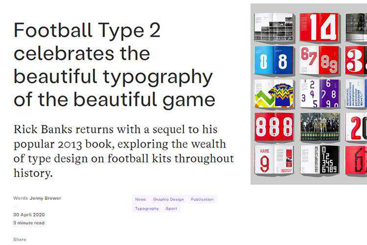 Example from Football Type 2 celebrates the beautiful typography of the beautiful game