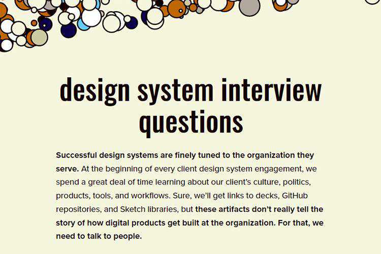 Example from Design System Interview Questions