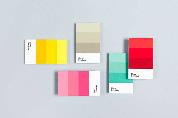 Example from 10 Beautifully Designed, Minimal and Name-Centric Business Cards