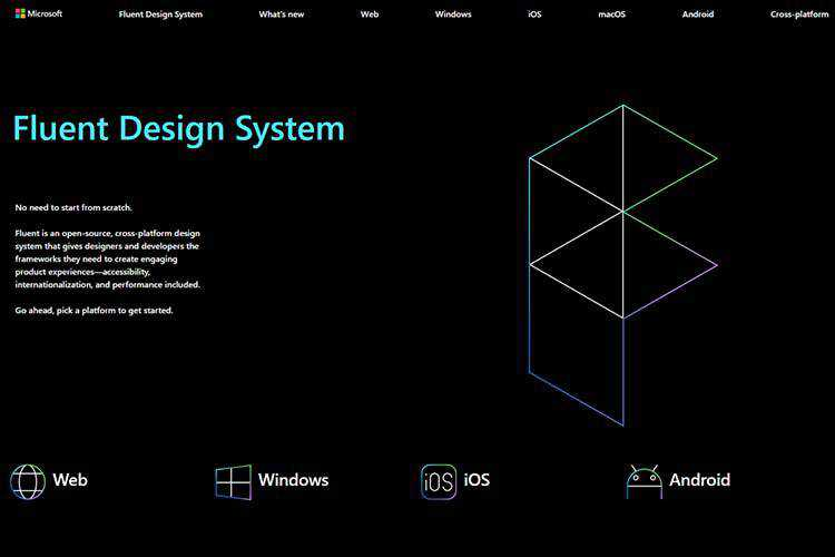 Example from Fluent Design System