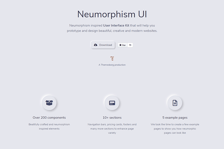 Example from Neumorphism UI