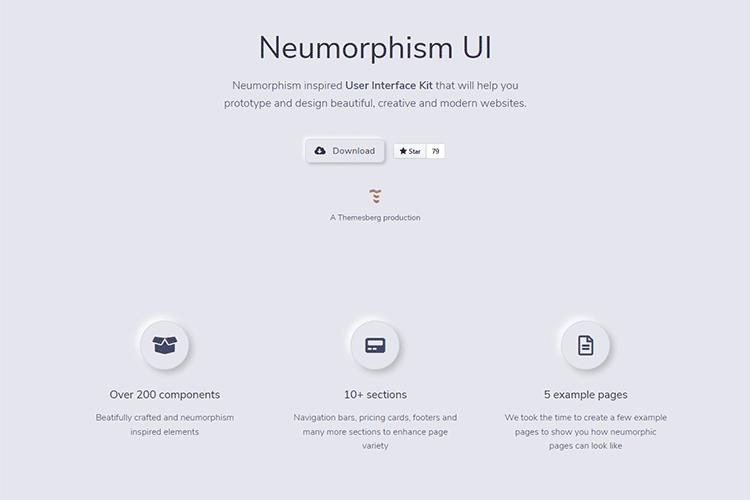 Example from Neumorphism UI