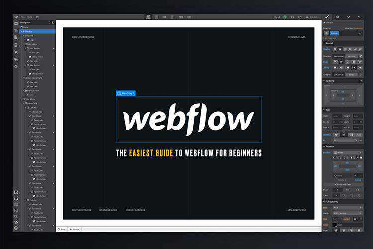 Example from The Easiest Guide to Webflow for Beginners