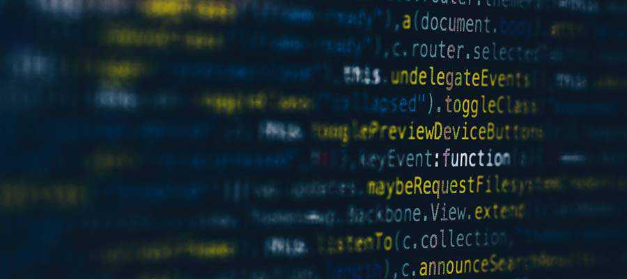 Code informatique.
