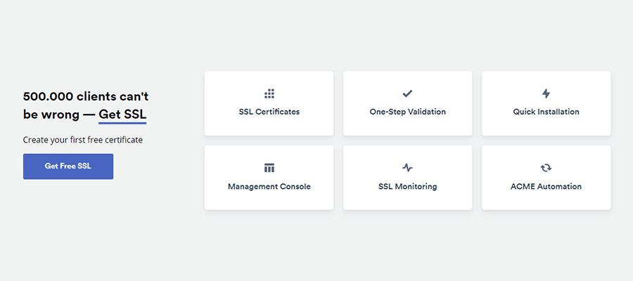 ZeroSSL Feature List