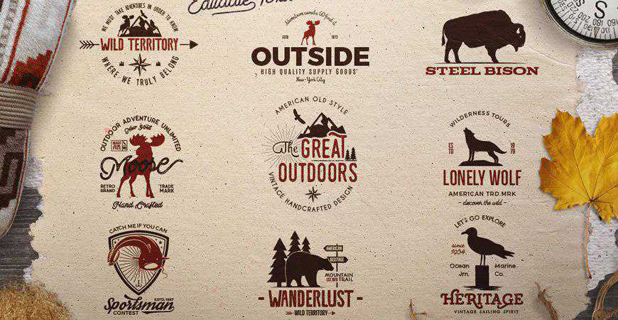 Wild Vintage Logo Templates animals