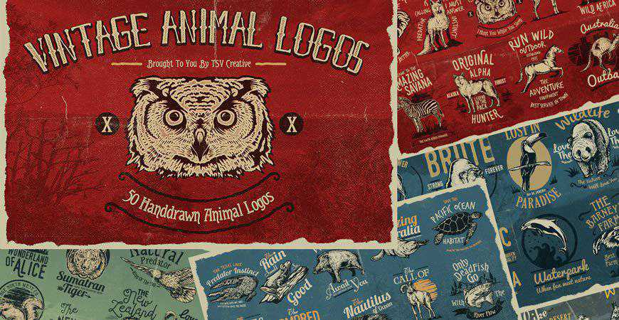 Vintage Animal Logo Badges