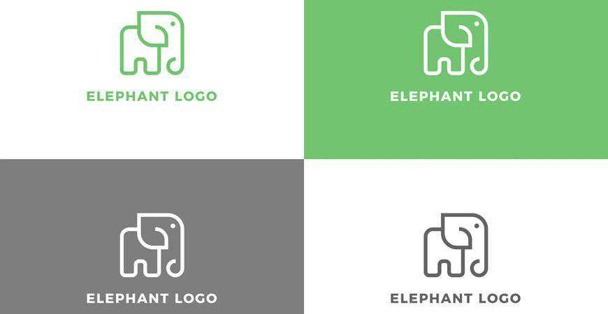Elephant Logo Template animals