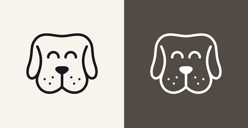Happy Dog Logo Template pet animals