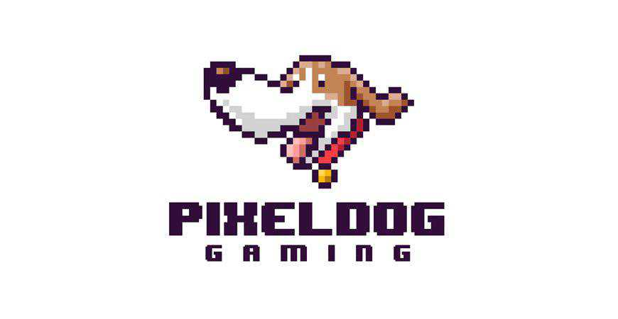 Pixel Dog Gaming Mascot Template animals