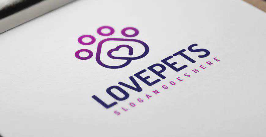 Love Pets Logo Template animals