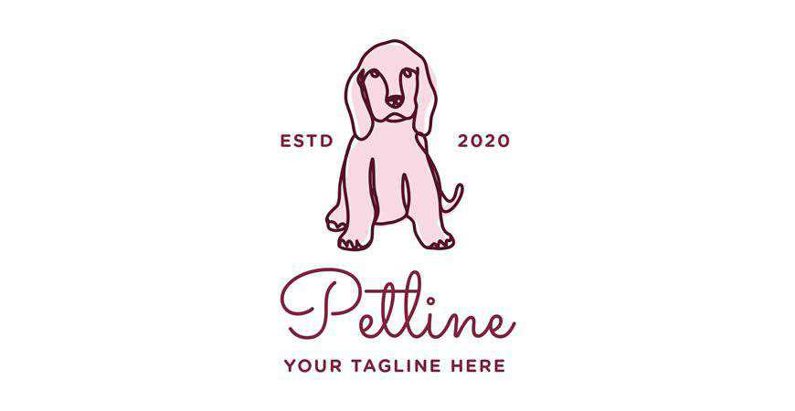 Petline Dog Logo Template animals