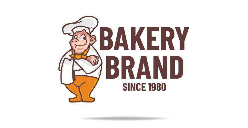 Brand Logo Template bakery cake bake food
