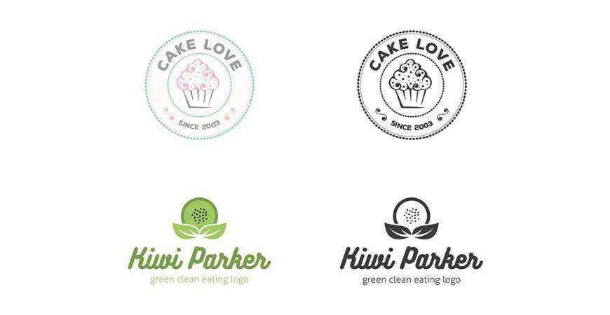Unique Food Logo Templates bakery cake bake