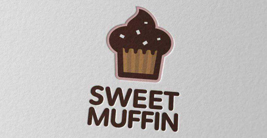 Sweet Muffin Baking Logo Template bakery cake bake food