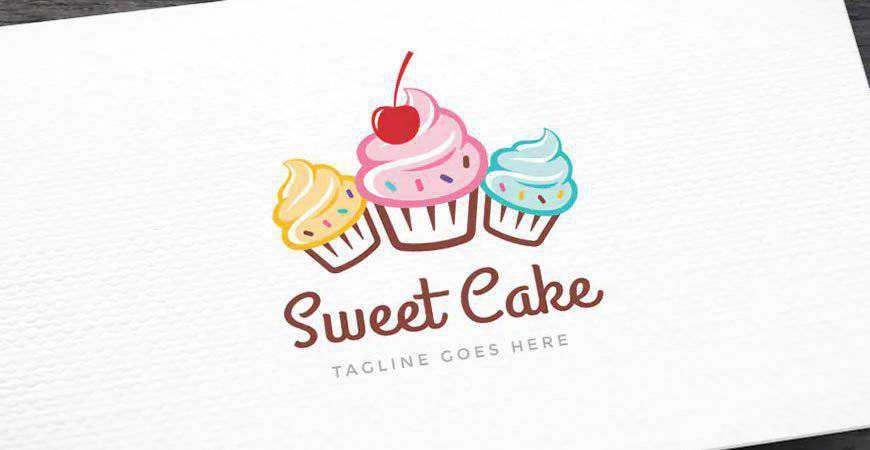 Sweet Cake Logo Template bakery cake bake food