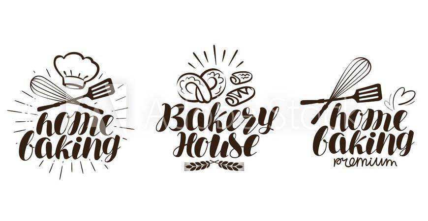 Bakery Logo Label Templates cake bake food