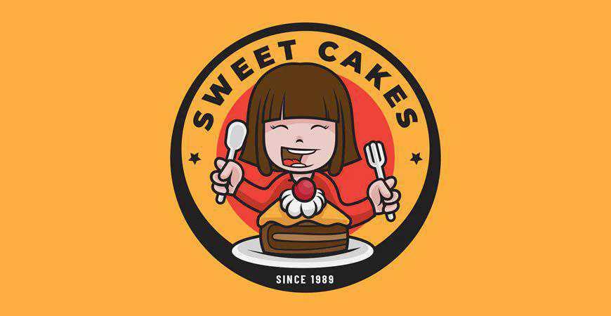Sweet Cake Logo Template bakery bake food