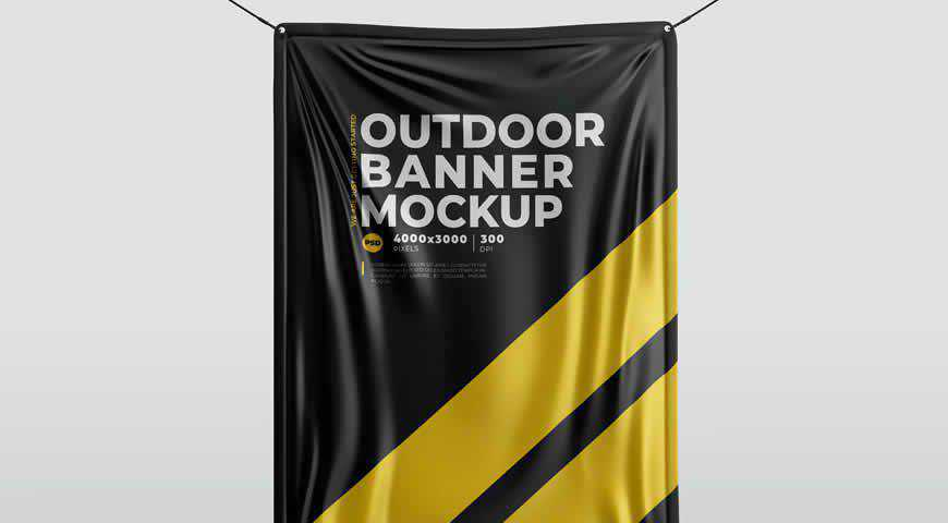 Outdoor Banner Photoshop PSD Mockup Template