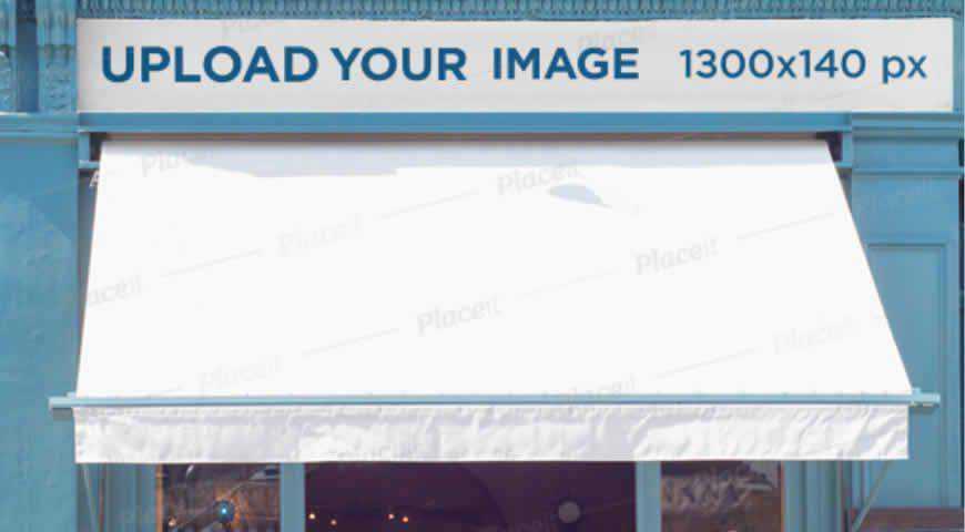 Storefront Photoshop PSD Mockup Template