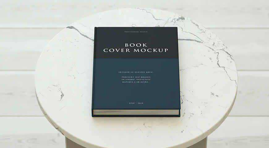 Book Cover Photoshop PSD Mockup Template