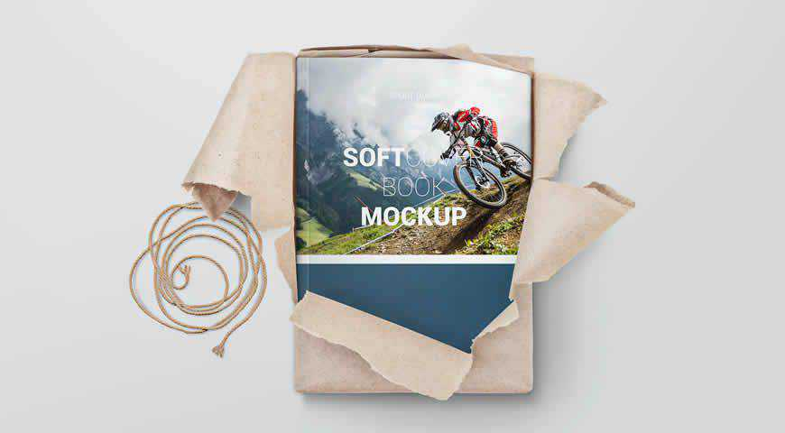 Softcover Book Photoshop PSD Mockup Template