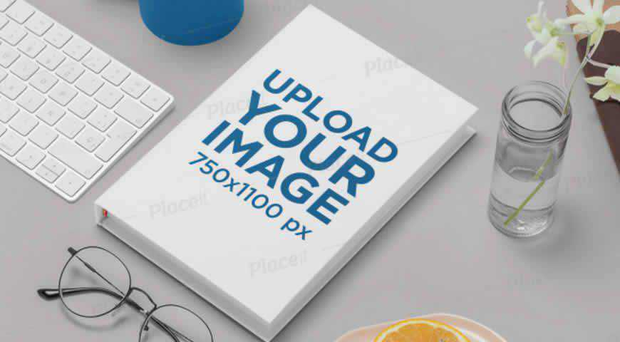 Hardcover Book Photoshop PSD Mockup Template