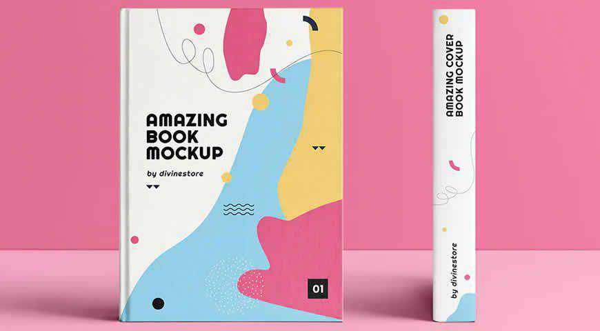 Cover Book Photoshop PSD Mockup Template