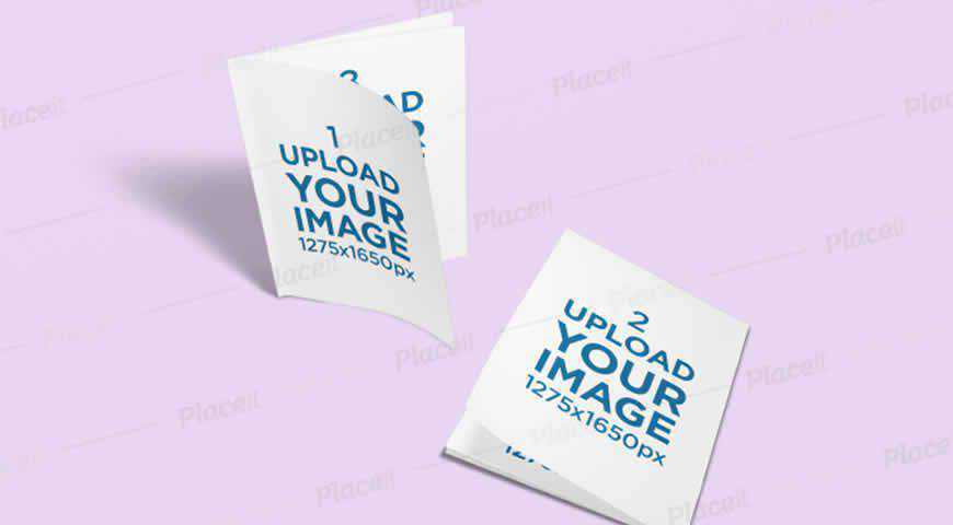 Two Booklets Photoshop PSD Mockup Template