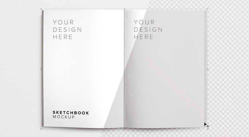 Sketchbook Photoshop PSD Mockup Template