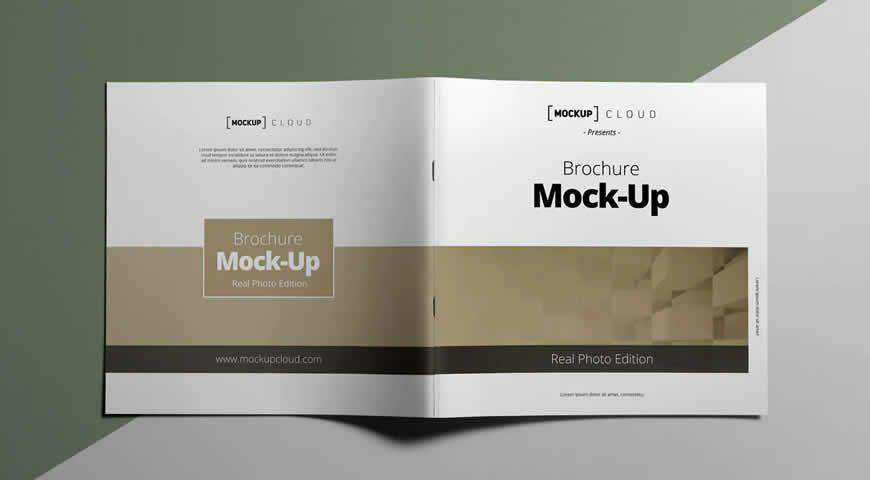 Square Brochure Photoshop PSD Mockup Template