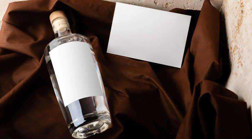 Gin Bottle Photoshop PSD Mockup Template