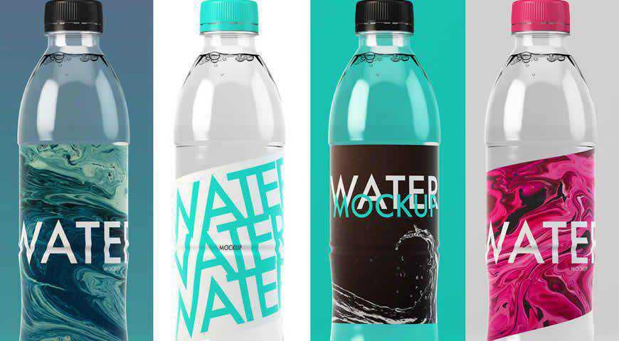 Water Bottle Photoshop PSD Mockup Template