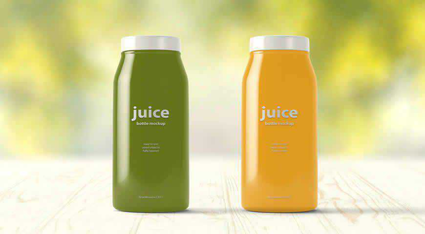 Juice Bottle Photoshop PSD Mockup Template