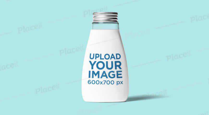 Glass Bottle Photoshop PSD Mockup Template