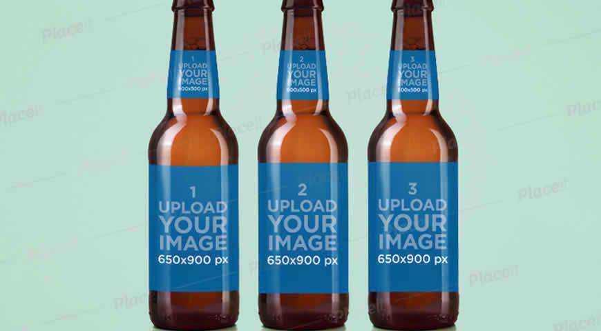 Beer Bottle Label Photoshop PSD Mockup Template