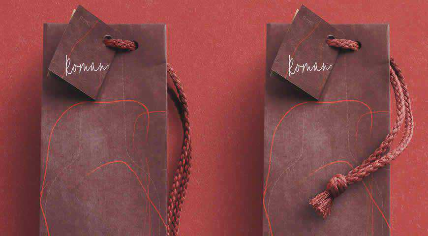 Wine Gift Bag Photoshop PSD Mockup Template