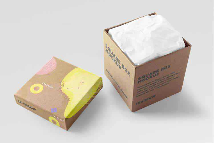 25 Cardboard Box Packaging Mockup PSD Templates