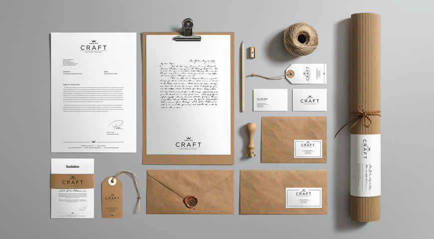 Craft Branding Photoshop PSD Mockup Template