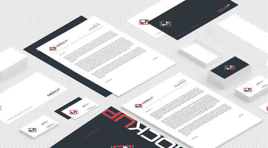 Corporate Identity Branding Photoshop PSD Mockup Template