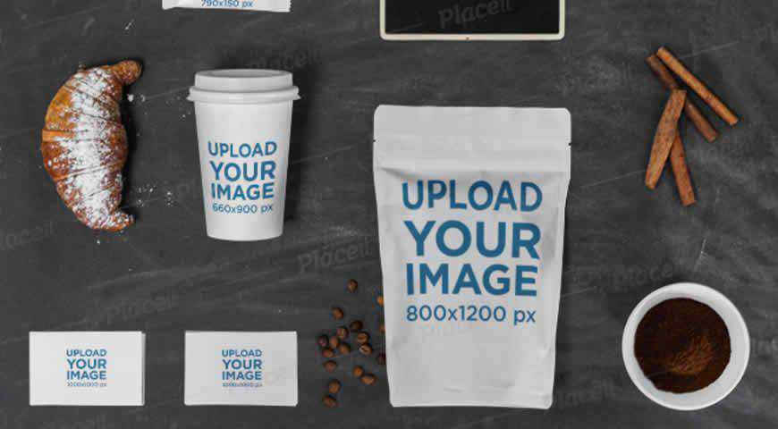 Coffee Cup Business Cards Photoshop PSD Mockup Template
