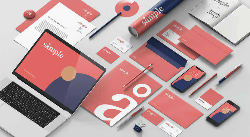 Stationery Branding Photoshop PSD Mockup Template