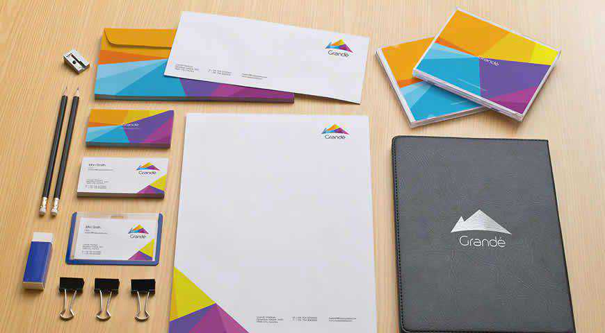 Office Stationery Branding Photoshop PSD Mockup Template
